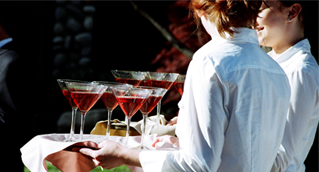 Serving custom martinis
